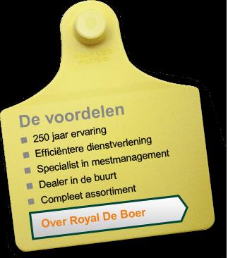 Leenknecht Agri, Royal De Boer GEA voordelen diversen